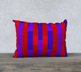 Purple on Red, Red on Purple Throw Pillow 2 aperçu