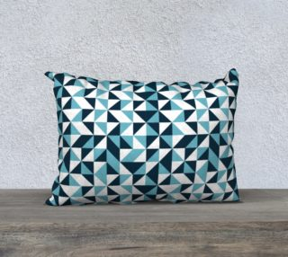 Blue Triangles 20x14 Pillow Case preview