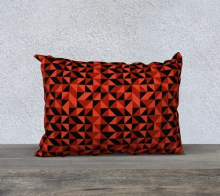 Red Triangles 20x14 Pillow Case preview