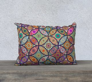 "Vibrant Mandalas 20"" x 14"" Decorative Pillow Case preview"