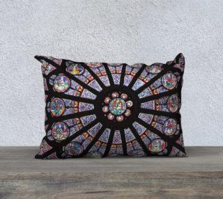 """Rose South Window, Notre Dame Paris  20"""" x 14"""" Decorative Pillow Case preview"""