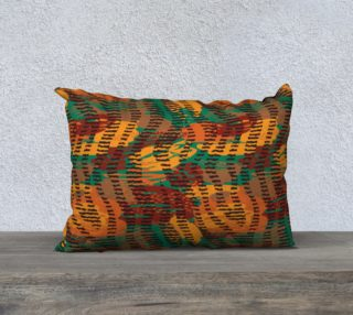 "Abstract Animal Stripes 20"" x 14"" Decorative Pillow Case preview"