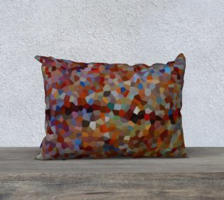 Red Brown Line Mosaic Pillow Case 20 x 14 preview