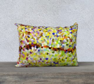 Yellow Line Mosaic Pillow Case Rectangle 20 x 14 preview