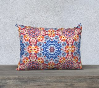 """Blue and Orange Kaleidoscope 20"""" x 14""""  Decorative Pillow Case preview"""