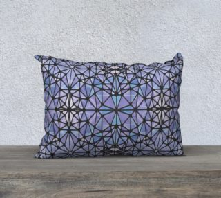 """Purple and Blue Kaleidoscope 20"""" x 14"""" Decorative Pillow Case preview"""