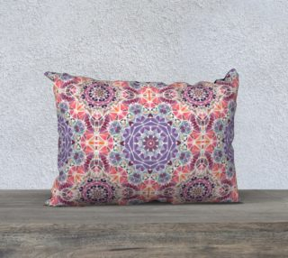 """Purple and Pink Kaleidoscope 20"""" X 14"""" Decorative Pillow Case preview"""