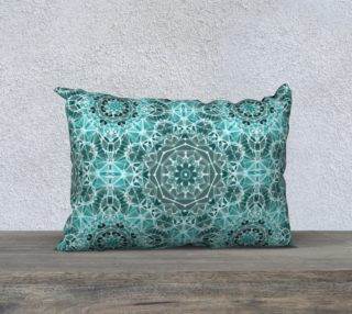 """Turquoise & Gray Kaleidoscope 20"""" x 14"""" Decorative Pillow Case preview"""