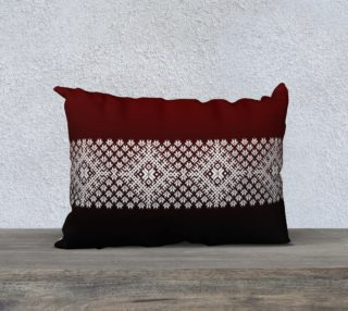 Nordic Red and Black Gradient with White Accent aperçu