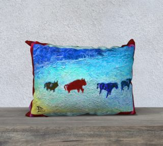 Ice Age Pillow Case w/Buffalo Red Edge preview