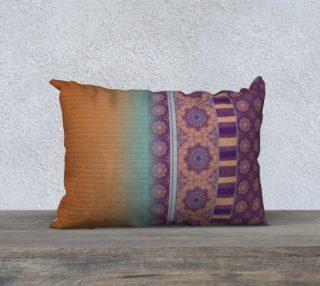 Plum to Amber Boho Ethnic Mandala Stripe Mix aperçu