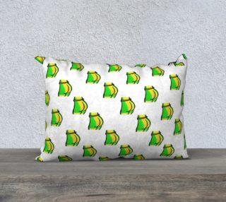 Aperçu de Butts Pattern - White 20 x 14 Pillowcase