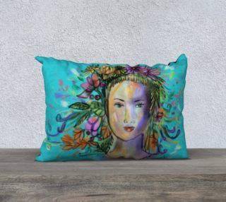 """Coussin 20 x 14"""" spring lady preview"""