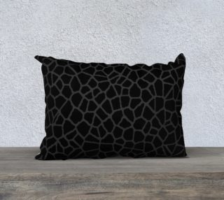 staklo (black/dark olive) throw pillow - 20x14 preview