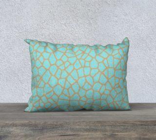 staklo (aqua/coffee) throw pillow - 20x14 preview
