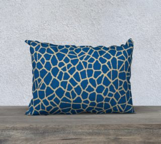 staklo (dark blue/coffee) throw pillow - 20x14 preview