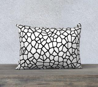 staklo (white/black) throw pillow - 20x14 preview