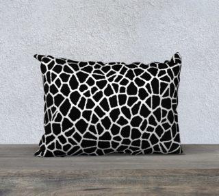 staklo (black/white) pillow - 20x14 preview