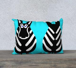 "Zebra Both Ends Pillow 20"" x 14"" preview"