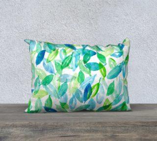 Watercolor Leaves Rectangular Pillow preview