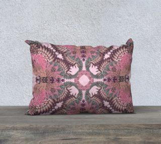 Pink flamingo butterflies long cushion preview