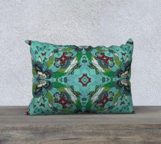 Green tower butterflies long cushion preview