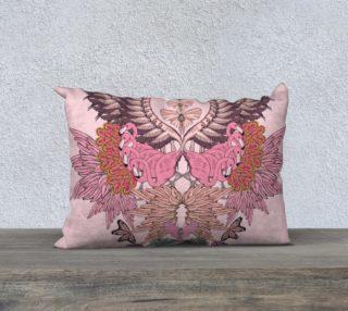 Pink flamingoes long cushion preview