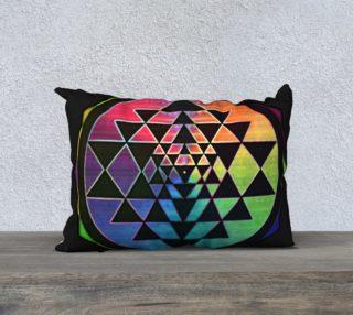 Rainbow Sri Yantra 20x14 Pillowcase preview