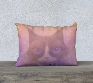 "Cosmic Cat Pillow 20"" x 14"" preview"