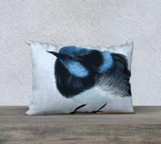 """Blue Wren Pillow 20"""" x 14"""" preview"""