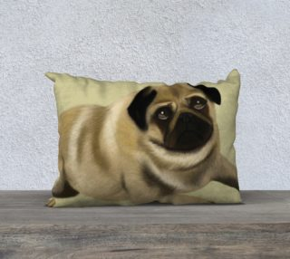 """Pug Love Pillow 20"""" x 14"""" preview"""