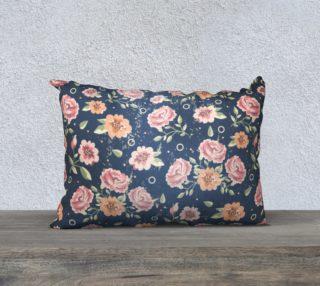 Vintage flowers rectangular pillow aperçu