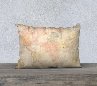 Another vintage world map rectangular pillow preview