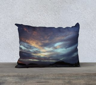 Ocean Sunset Pillow Cover Large preview