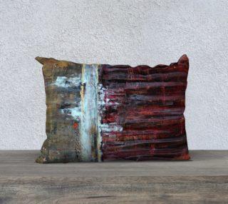 "Aperçu de Gold and Red Pillow - 20x14"""