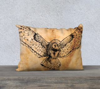 Drawn Flying Owl Design  preview