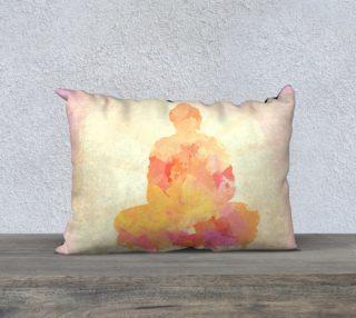 Aperçu de Yellow Pink Buddha Watercolor