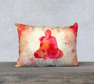 Yellow Red Buddha Watercolor   preview
