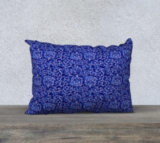 Blue Renaissance Tudor Damask aperçu