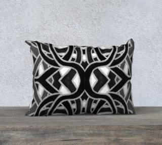Black & White Ribbon Pillow 20in by 14in preview