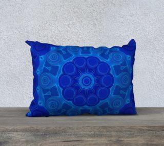 Blue Mandala Flower Art Pillow preview