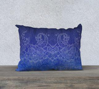 Aperçu de Watercolor Lace Ombre Blue Pillow