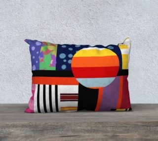 Aperçu de Bright colourful pillow case