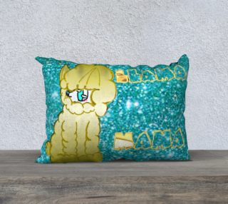 Maria's LLama Mama Glitter Pillow preview