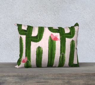 Happy Cacti Pillow 20x14 preview