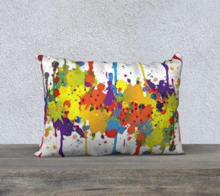Aperçu de CRAZY multicolored double RUNNING SPLASHES pillow 20x14