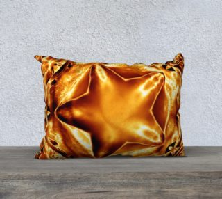 Elegant Shiny Copper Gold Star Pillow preview
