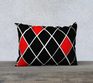 Elegant Black White and Red Diamonds Pattern preview