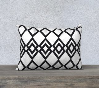"""Black Lines - Pillow 20""""14"""" preview"""