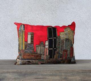 Aperçu de Housse de Coussin - Pillow Case MTL sous le rouge Montreal